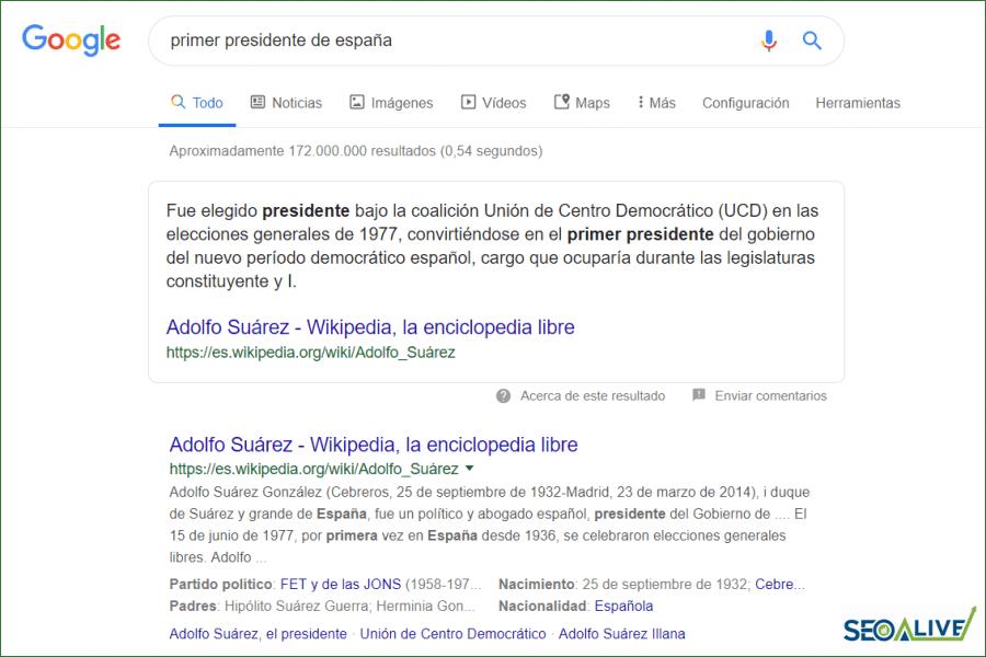 Búsquedas información SEO