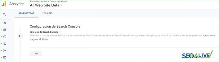 Integrar Search Console y Google Analytics