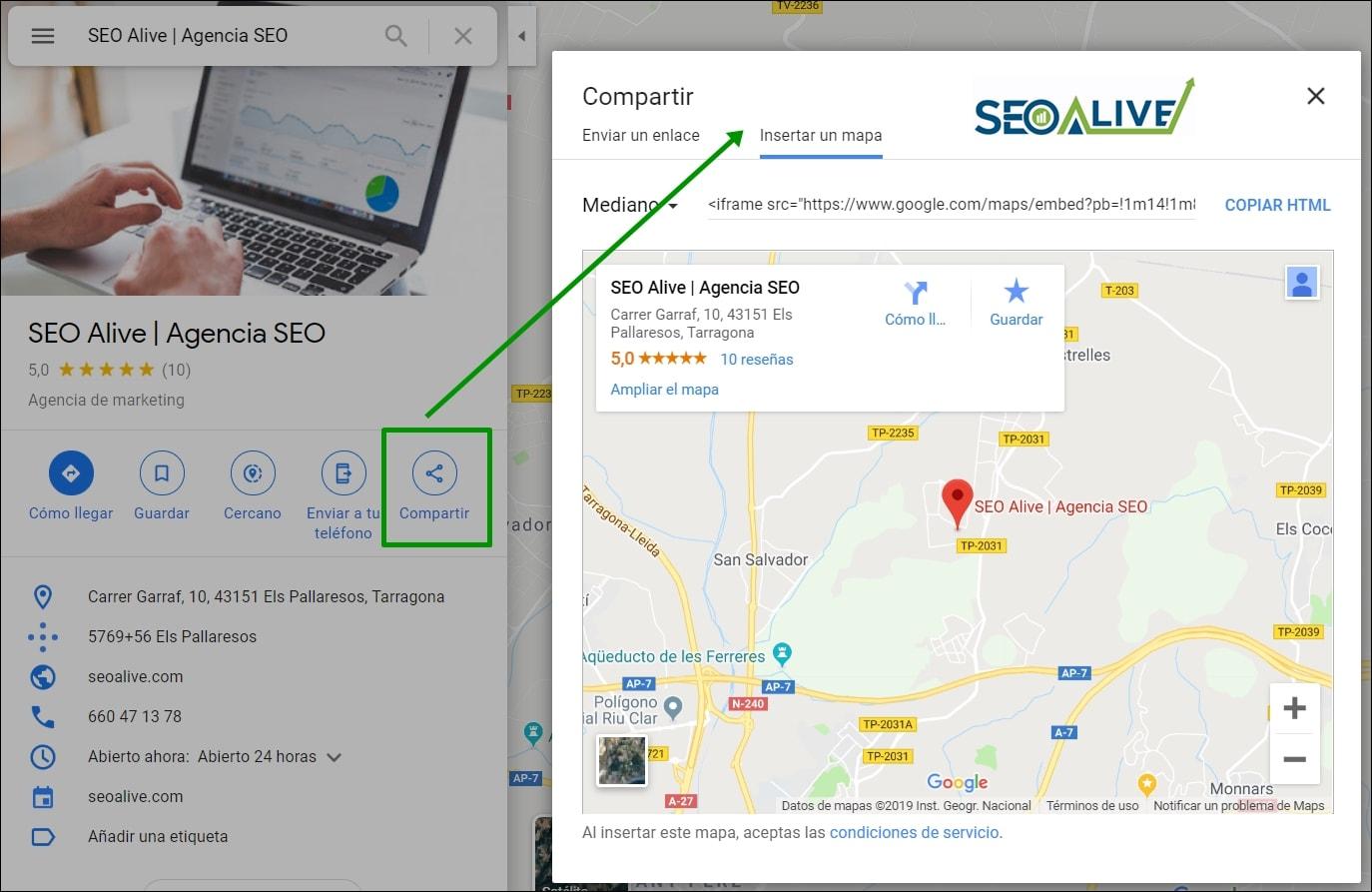 Mapa Google My Business