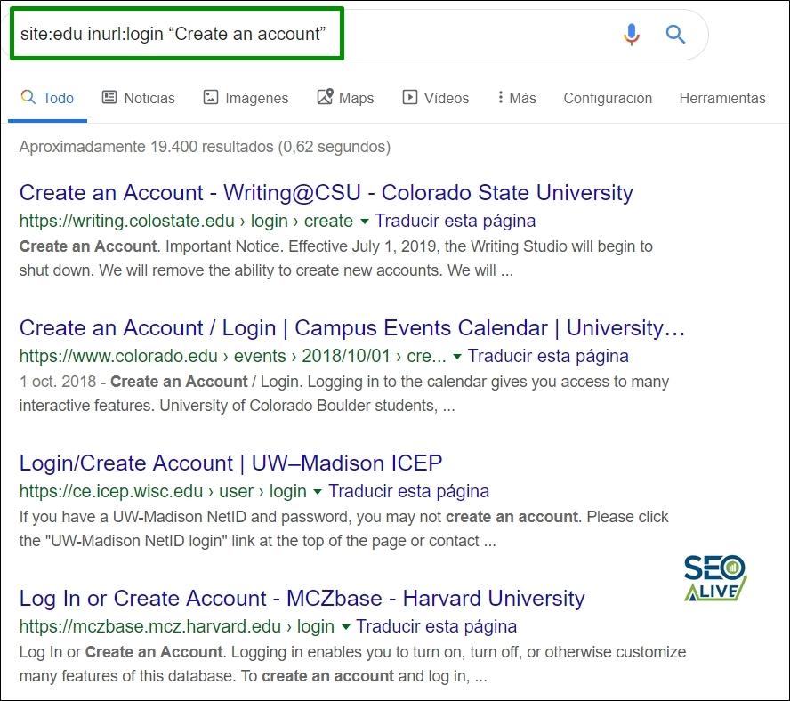 Comando Crear Cuenta Google