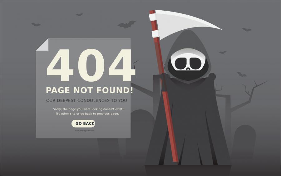 Ejemplo de página personalizada HTTP 404