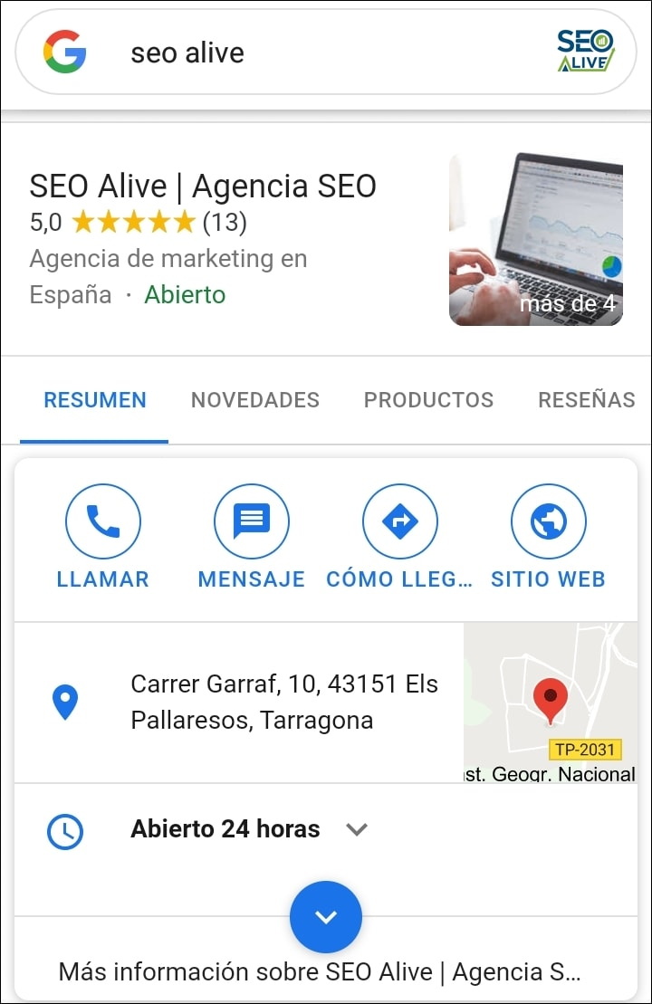 Empresas Locales Rich Snippets