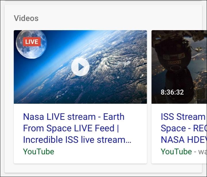 Eventos en Vivo Google
