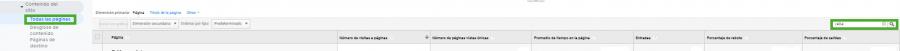 En Analytics hay varios modos de monitorizar los HTTP 404