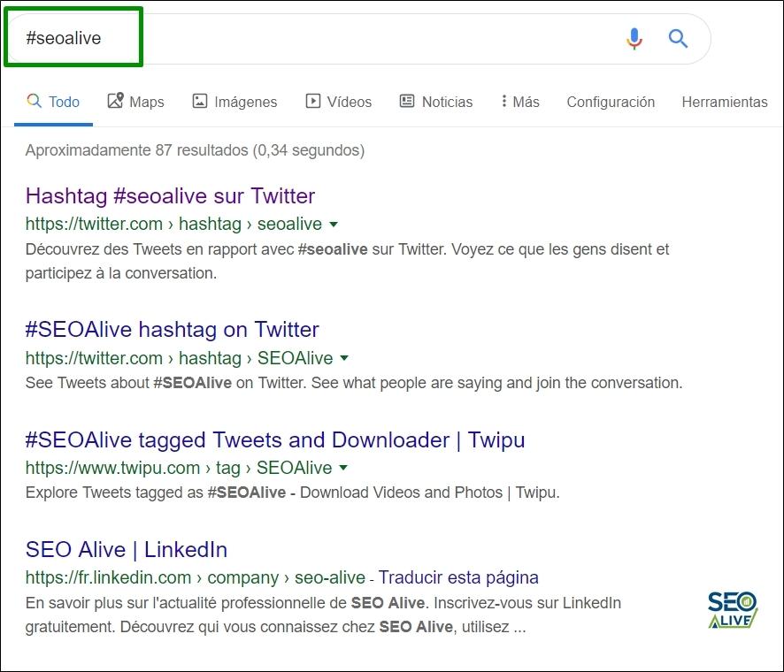 Hashtag Google