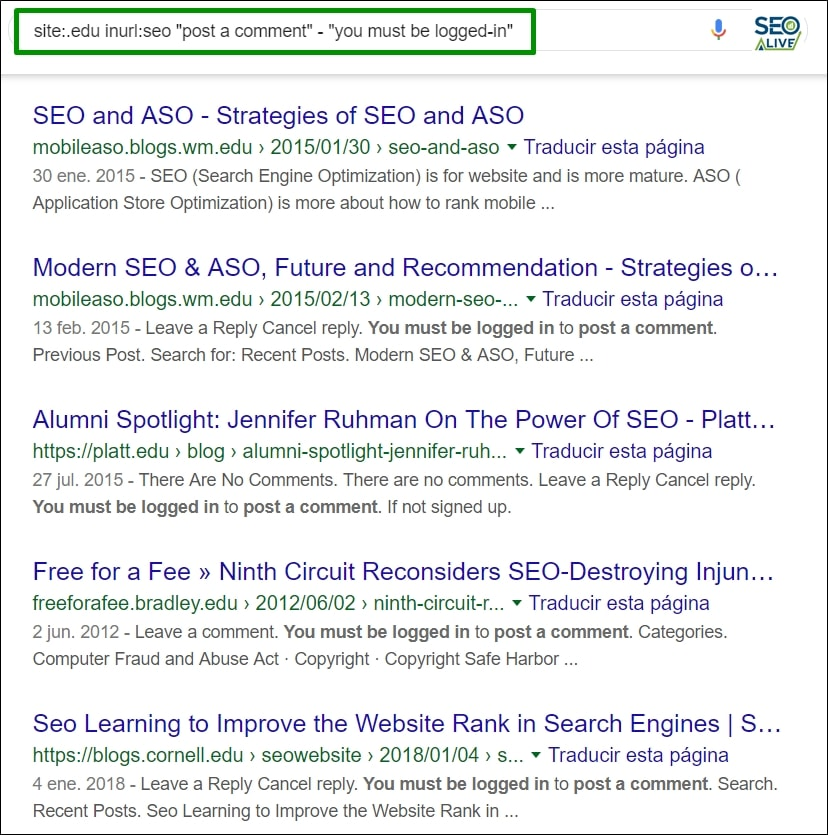 Linkbuilding SEO Search