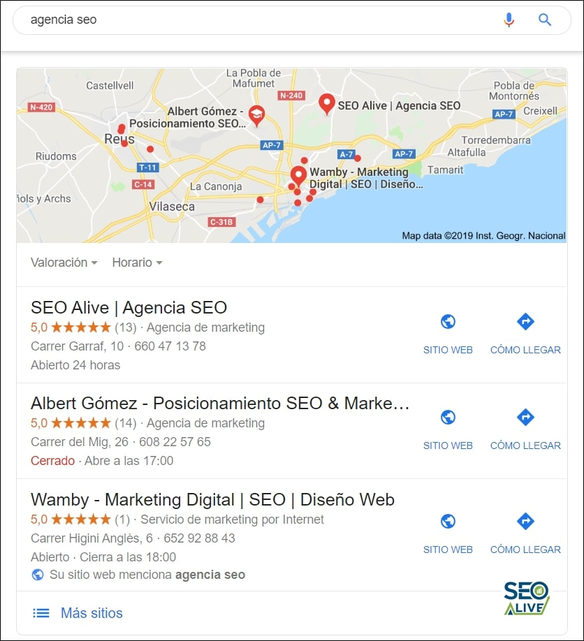 Local Pack Featured Snippet