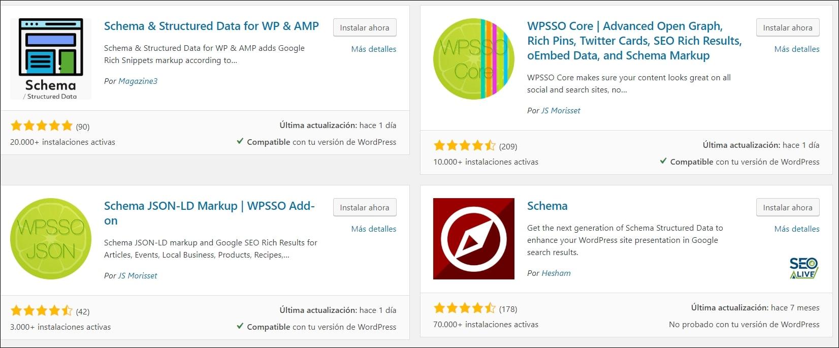 Plugins WordPress Schema