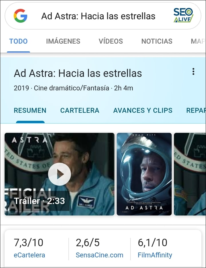 Críticas Rich Snippets