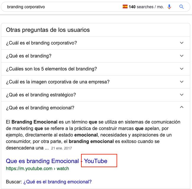 imagen de búsquedas relacionadas en video