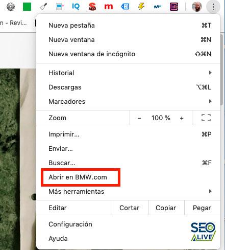 abrir versión PWA en Chrome