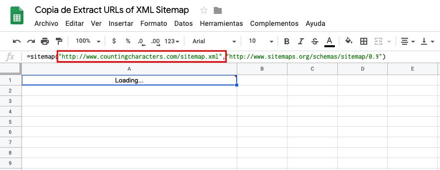 extraer urls sitemap