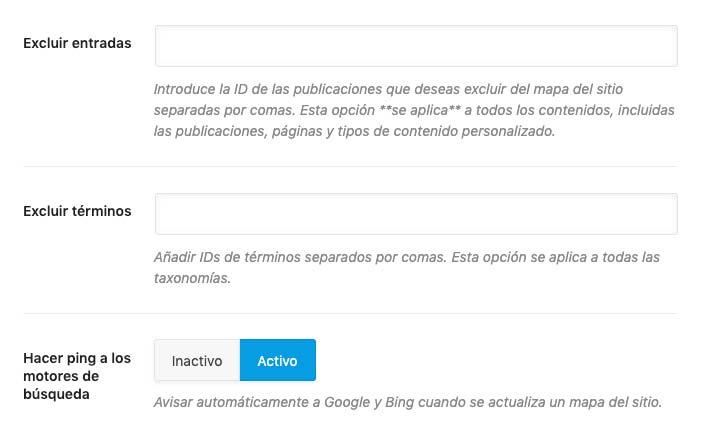 sitemap para wordpress