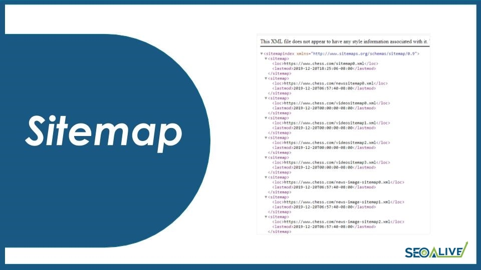 Sitemap SEO