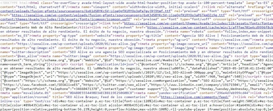 ejemplo del html minificado