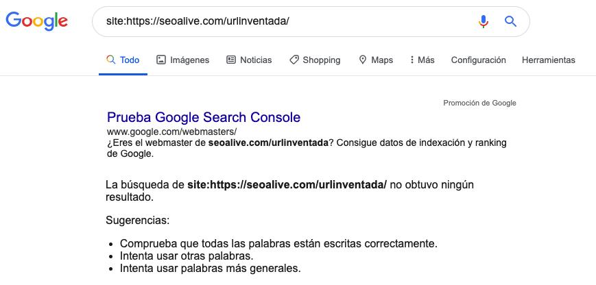 Comprobar indexada site