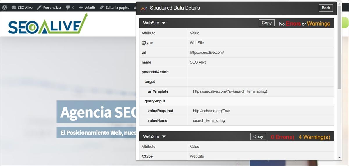 Structured Data Google Chrome