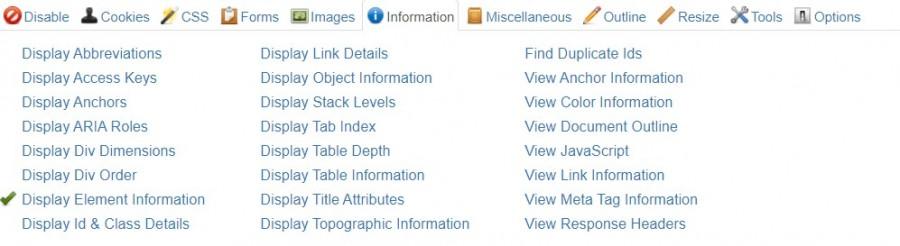 extensión web developper
