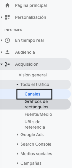 Google Analytics Trafico Orgánico