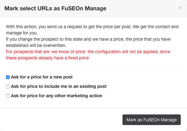 FuSEOn Manage en Link Affinity